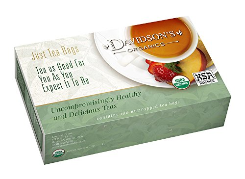 Davidson's Tea Decaf Spiced Raspberry, 100-Count Tea Bags