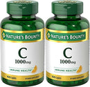 Image of Nature's Bounty Vitamin C Pills and Supplement, Supports Immune Health, 1000mg, 100 Caplets, 2 Pack