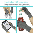 Image of Vive Arthritis Gloves with Grips - Men & Women Textured Fingerless Compression - Open Finger Hand Gloves for Rheumatoid and Osteoarthritis - Arthritic Joint Pain Relief for Computer Typing (Large)