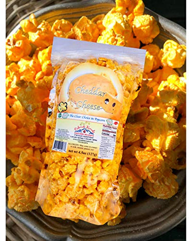 Popcorn by Colorado Kernels Popcorn Delights Post Card Theme SNOW FRIENDS | 3 Flavors | Chocolate Avalanche | Cheddar Cheese | Caramel Corn