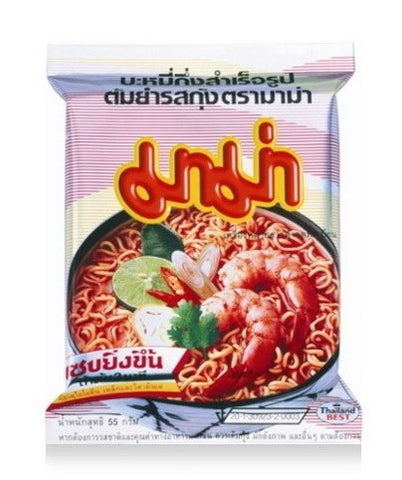 Instant Mama Noodles Shrimp Tom Yum Flavor - Pack of 10