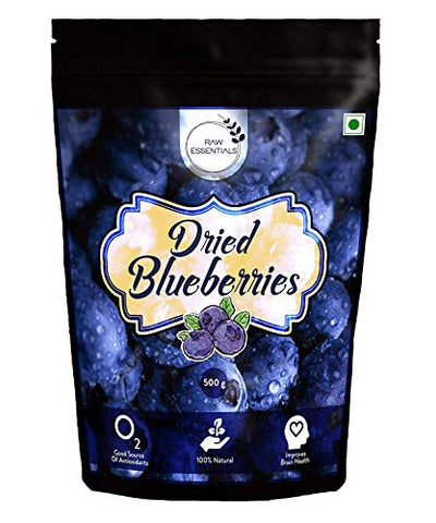 Premium Whole Dried Blueberries / blueberry 500gm (17.63 oz)