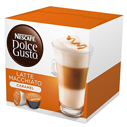 Nescafeâ? Dolce Gusto Coffee Capsules, Caramel Latte Macchiato  48 Single Serve Pods, (Makes 24 Spec
