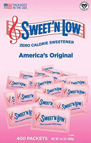 Sweet'N Low Sweetener, 400 Count Packets