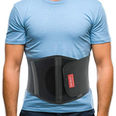 ORTONYX Ergonomic Umbilical Hernia Belt for Men and Women - Abdominal Support Binder with Compression Pad - Navel Ventral Epigastric Incisional and Belly Button Hernias Surgery Brace - OX353-L/XXL