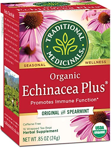 Traditional Medicinals Organic Echinacea Plus Seasonal Tea, 16 Tea Bags (Pack Of 6)