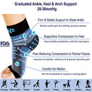 Image of Dowellife Plantar Fasciitis Socks, Ankle Brace Compression Support Sleeves & Arch Support, Foot Compression Sleeves, Ease Swelling, Achilles Tendonitis, Heel Spurs for Men & Women (Black XL)