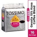 Image of Gevalia 15% Kona Blend Coffee T Discs For Tassimo Brewing Systems (16 T Discs)