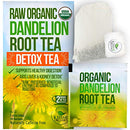 Image of Dandelion Root Tea Detox Tea - Raw Organic Vitamin Rich Digestive - 1 Pack (20 Bags, 2 grams each) - Helps Improve Digestion and Immune System - Anti-inflammatory and Antioxidant