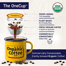 Image of The Organic Coffee Co. Breakfast Blend 12 Ct Medium Light Roast Compostable Coffee Pods, K Cup Compa