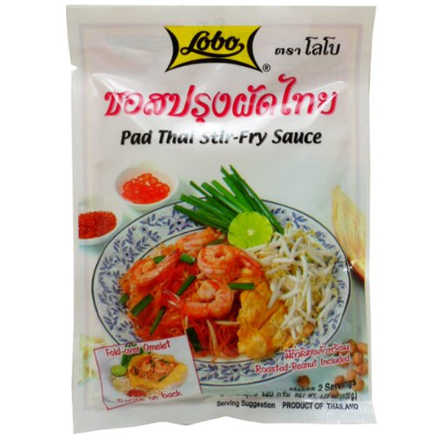 Lobo Pad Thai Stir-fry Sauce 120g (4.23 Oz) Thai Food X 4 Bags