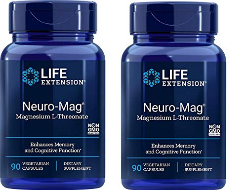 Life Extension Neuro-mag Magnesium L-threonate, 90 Count(2 Pack)