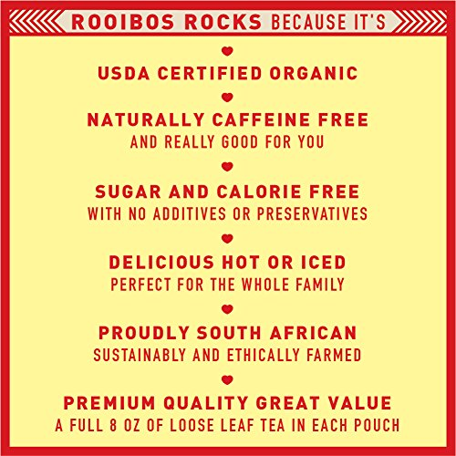 Rooibos Tea Immune Support Loose Leaf   8 Oz Usda Organic Non Gmo Naturally Caffeine Free South Afri