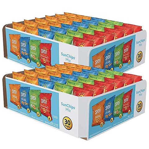 Frito LayA SunchipsA Variety Pack, 1-1/2 oz. Bags (Case of 60)