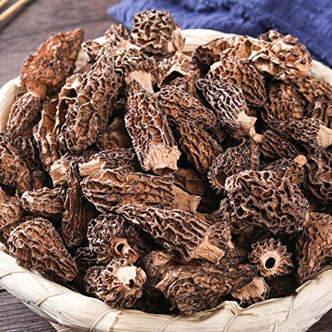 Tibet Wild Morel Mushrooms of China Premium Dried Morels Mushrooms Different Sizes of Morels Large Quantities 1kg