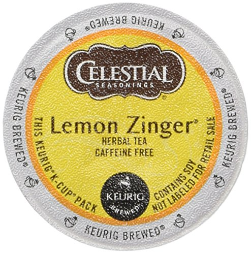 Celestial Seasonings Lemon Zinger Herbal Tea, K-Cup Portion Pack for Keurig K-Cup Brewers, 24-Count (Pack of 2)
