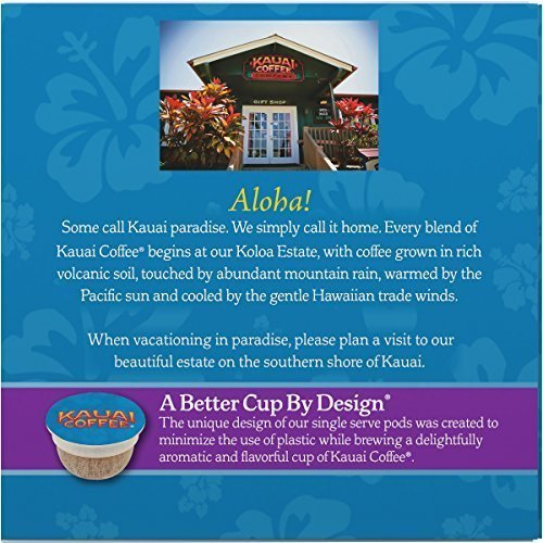 Kauai Coffee Single Serve Pods, Garden Isle Medium Roast â?? 100% Premium Arabica Coffee From Hawaii