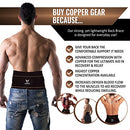 "Image of Copper Compression Gear Premium Fit Back Brace Lower Lumbar Support Belt. Adjustable for Men and Women. Comfortable Copper Infused Back Wrap Perfect for Working or Playing Sports (Waist 39"" - 50"")"