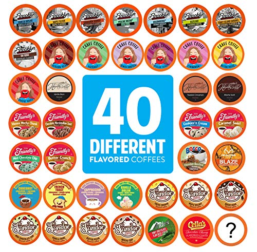 Two Rivers Coffee Flavored Coffee Pods Variety Pack Sampler, Compatible With 2.0 Keurig K Cup Brewer