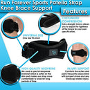 Image of Patella Strap Knee Brace Support for Arthritis, ACL, Running, Basketball, Meniscus Tear, Sports, Athletic. Best Knee Brace for Hiking, Soccer, Volleyball & Squats (1 Pack)