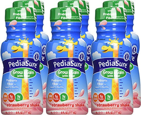 PediaSure Grow & Gain Shake Strawberry - 6 CT