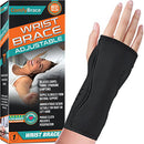 Image of Night Wrist Sleep Support Brace - Fits Both Hands - Cushioned to Help with Carpal Tunnel and Relieve and Treat Wrist Pain,Adjustable, Fitted-ComfyBrace