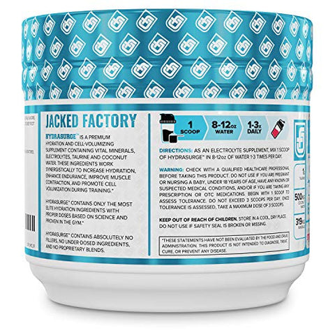 HYDRASURGE Electrolyte Powder - Hydration Supplement with Key Minerals, Himalayan Sea Salt, Coconut Water, More - Keto Friendly, Sugar Free & Naturally Sweetened - 60 Servings, Strawberry Kiwi