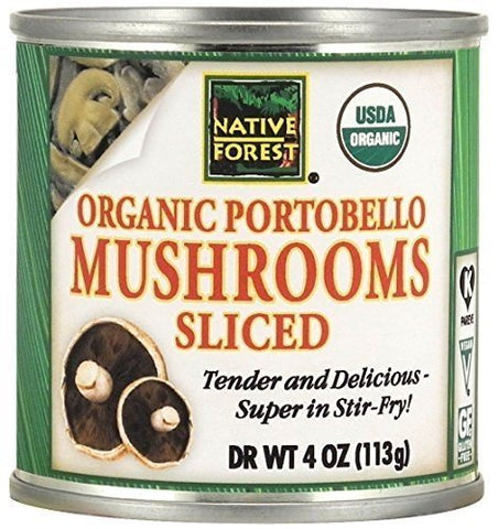 Native Forest Organic Sliced Portobello Mushrooms, 4-Ounce Cans (Pack of 12) ( Value Bulk Multi-pack)