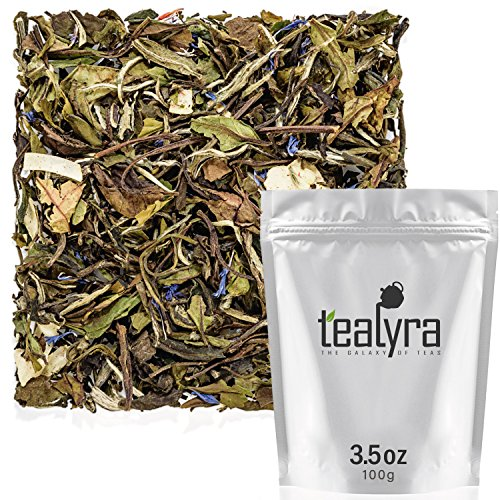 Tealyra - White Coconut Cream - Premium White Tea with Coconut Chips Blend - Loose Leaf Tea - High in Antioxidants - Caffeine Level Low - All Natural Ingredients - 100g (3.5-ounce)