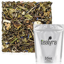 Image of Tealyra - White Coconut Cream - Premium White Tea with Coconut Chips Blend - Loose Leaf Tea - High in Antioxidants - Caffeine Level Low - All Natural Ingredients - 100g (3.5-ounce)