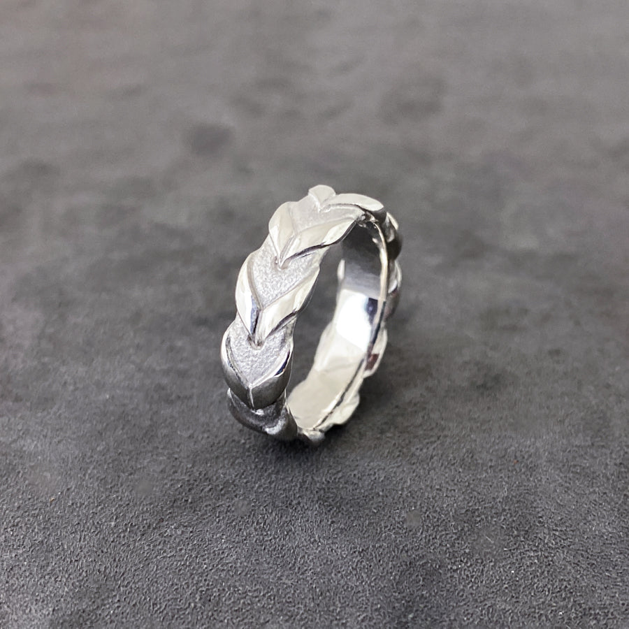 Lace Rein Ring - Sterling Silver