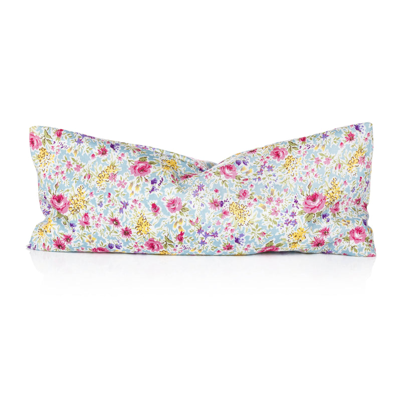 Clarity Blend Relaxation Eye Pillow Pale Blue Floral Pattern