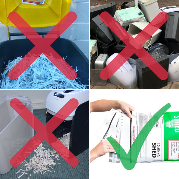 Home shredding = waste