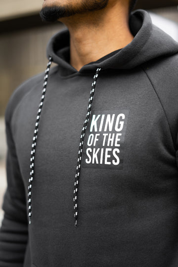 KING OF THE SKIES HOODIE - CHARCOAL GREY