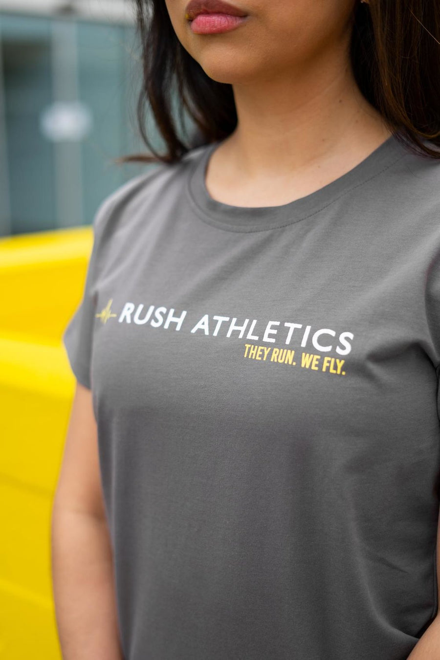 RUSH ATHLETICS T-SHIRT - WOMENS - GREY