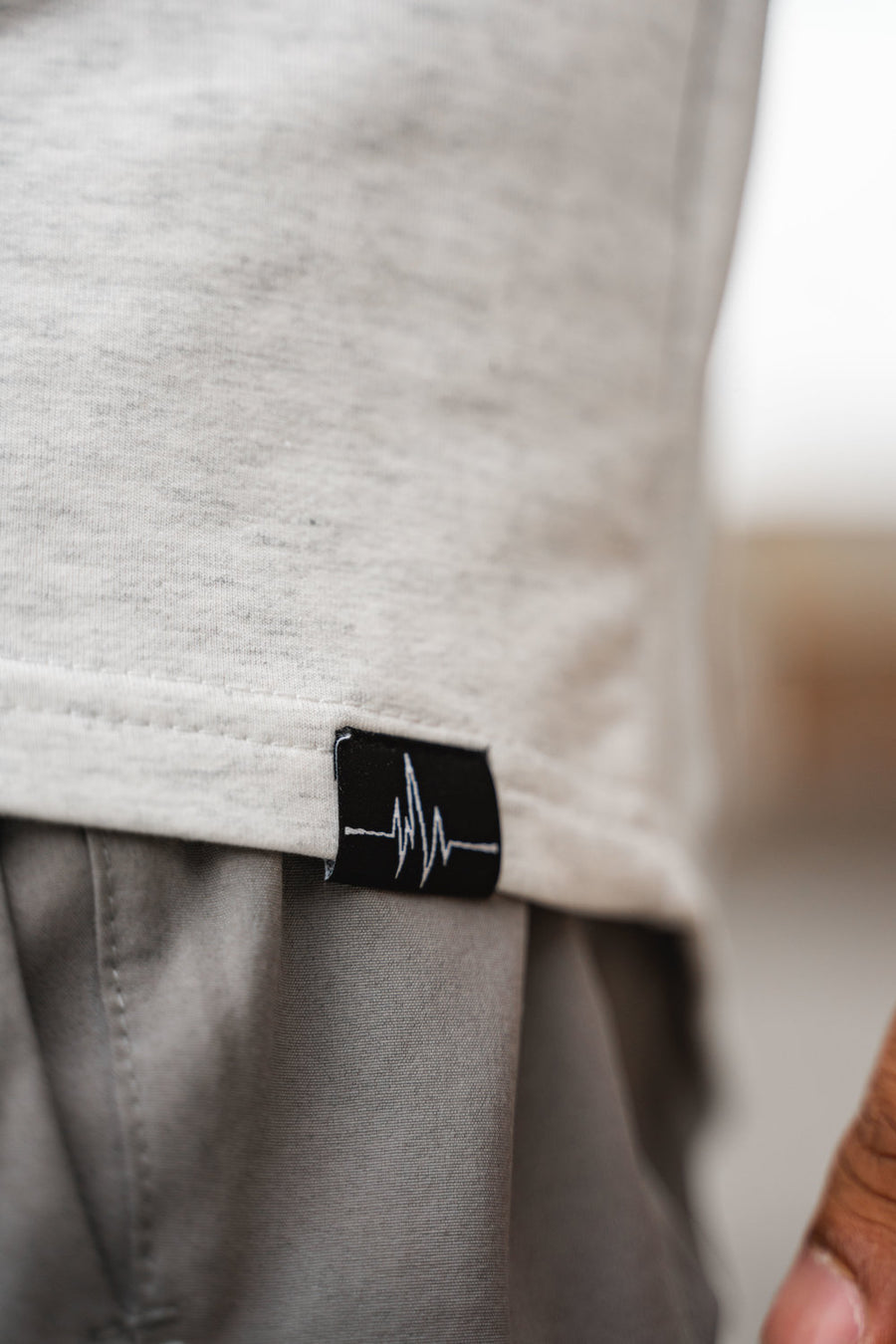 PHANTOM ZIP HOODIE - LIGHT GREY