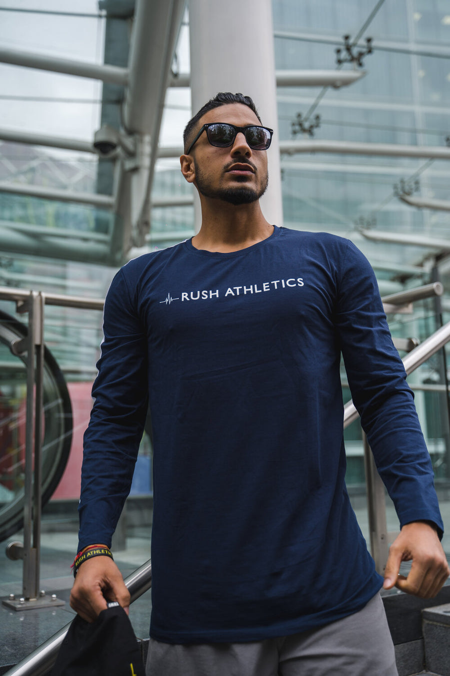 RA LONG SLEEVE TEE | NAVY