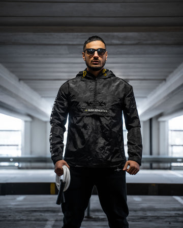 TACTICAL WINDBREAKER | STEALTH BLACK CAMO