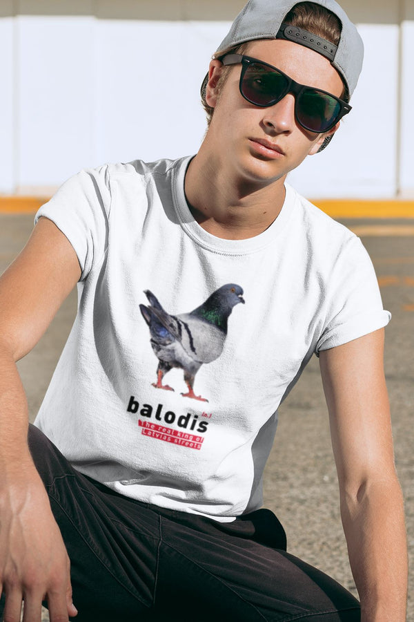Balodis - King of Streets 👑 Unisex T-krekls Balts S