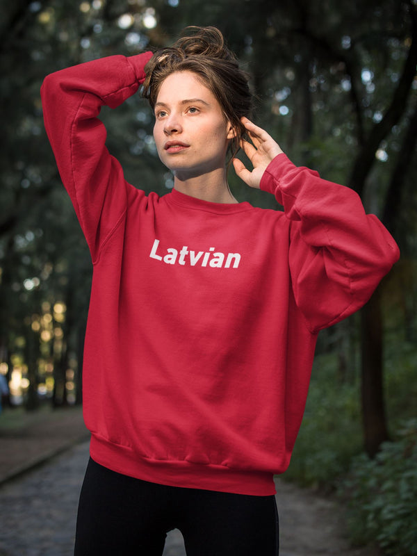 Latvian Official (Sarkans) ❤️ Unisex Džemperis S