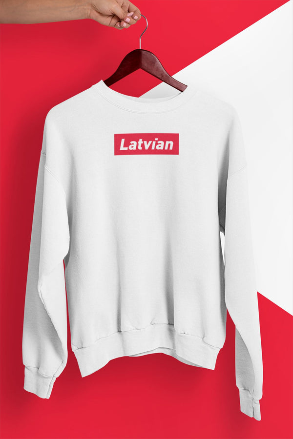 Latvian Official ⭐️ Unisex Džemperis Balts S