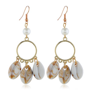 Antigua Tri-Shell Earrings