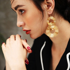Fashion Temperament Tassel Earrings