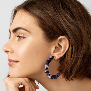 Acetate Plate Alloy Earrings