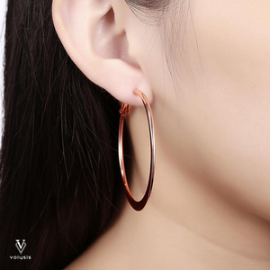 Hoop Earrings in 18K Rose Gold Plated