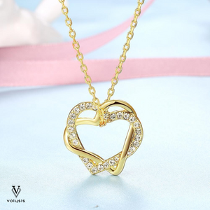 Gold Heart Necklace - 18k Gold Plated | VOLYSIS