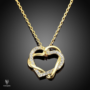 Golden Heart Necklace in 18K Gold Plated