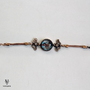 Glass Bronze - Blue Glass Bracelet For Sale | VOLYSIS