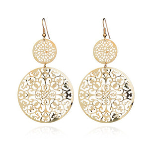Round Hollow Earrings