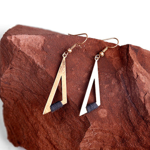 Triangle Alloy Vintage Earrings